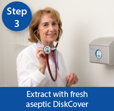 AseptiScope instruction, AseptiScope instructions, AseptiScope DiskCover, Infection Protection